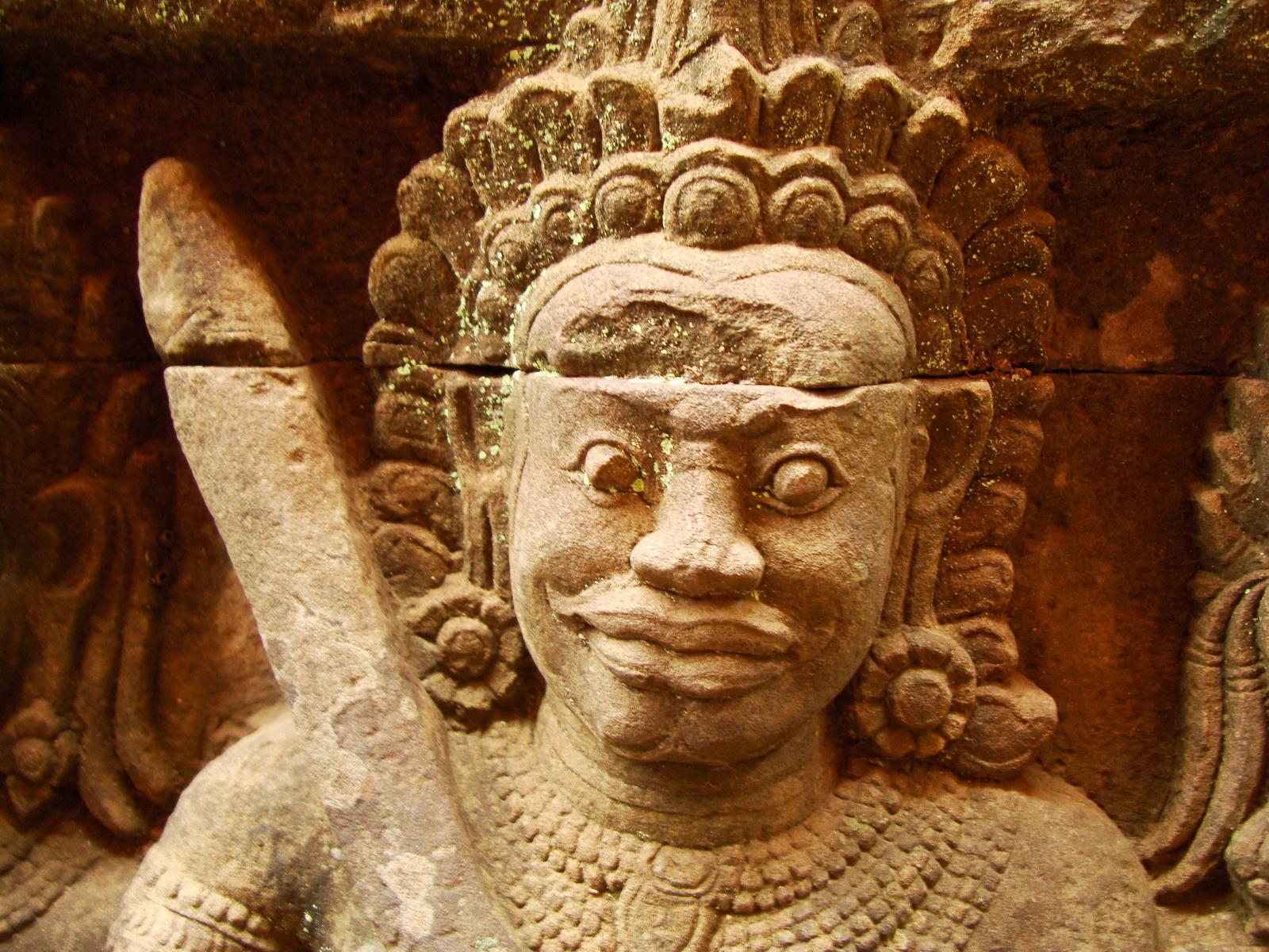 Leper King Terrace hidden wall underworld Nagas and deities 142