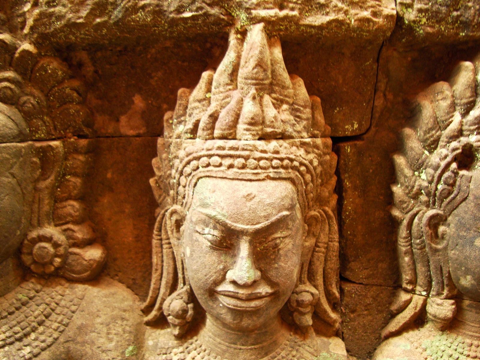 Leper King Terrace hidden wall underworld Nagas and deities 143