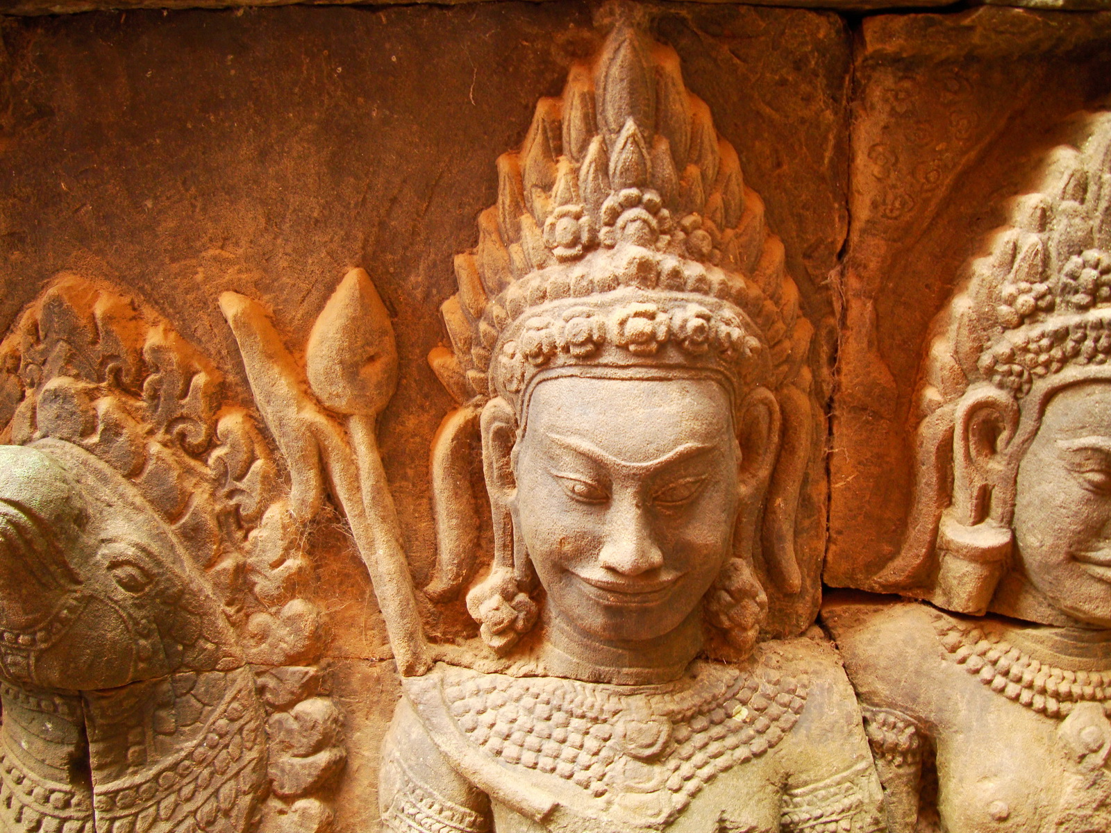 Leper King Terrace hidden wall underworld Nagas and deities 146