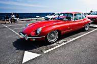 Asisbiz Beautiful E Type Jag or Jaguar E Type Gudhjem car park Bornholm Denmark 010x16
