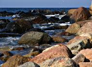Asisbiz Ecology Seashore rocks and bolders protect the coastline Bornholm Denmark 01