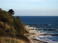 Asisbiz Ecology local white sand beaches dot the coastline Bornholm Denmark 04