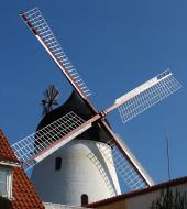 Asisbiz Local architecture wind mill Gudhjem Bornholm Denmark 01