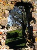 Asisbiz Ruins of Hammershus a Medieval fortress hole in the wall Bornholm Denmark 2009 01