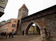 Asisbiz Guard tower and castle walls encasing the old medieval city of Tallinn Suur Kloostri street heading W 01