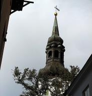 Asisbiz St Marys Cathedral spire Tallinn medieval town hall area old town Estonia 01