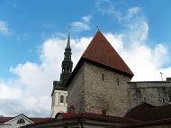 Asisbiz St Nicholas Church spire background old town Tallinn Estonia 01