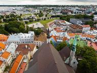 Asisbiz St Olafs Church Estonian Oleviste kirik Tallinn Estonia built 1267 North East views 02