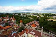 Asisbiz St Olafs Church Estonian Oleviste kirik Tallinn Estonia built 1267 panoramic views 01