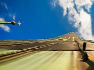 Asisbiz St Olafs Church spire looking up to the heavens I call this series of photos Vertigo with Seahorse 01