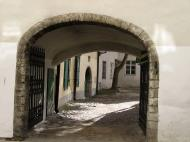 Asisbiz Street view showing the thickness of the castle walls encasing the old medieval city of Tallinn 01