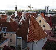 Asisbiz Tallinn Architecture Elevated view looking notheasterly along the Old Town Tallinn Estonia 01