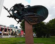 Asisbiz Walking down Viru valjak park bronze statue Tallinn Harju Estonia 01