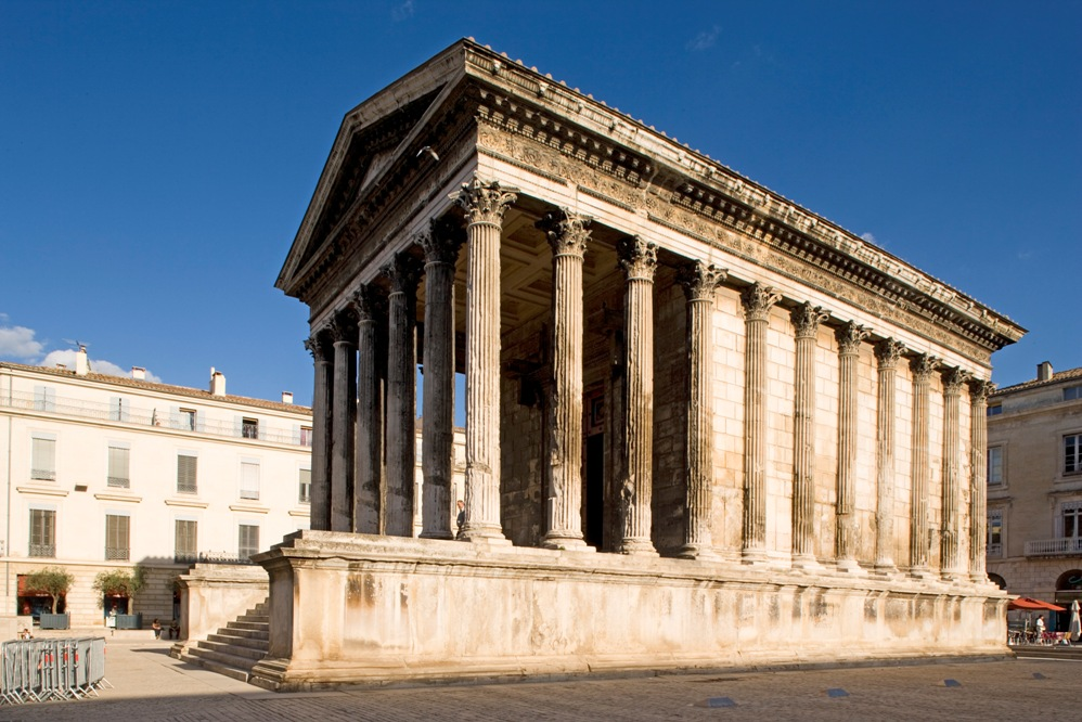 Asisbiz stock photos of france - Maison carree nimes ...