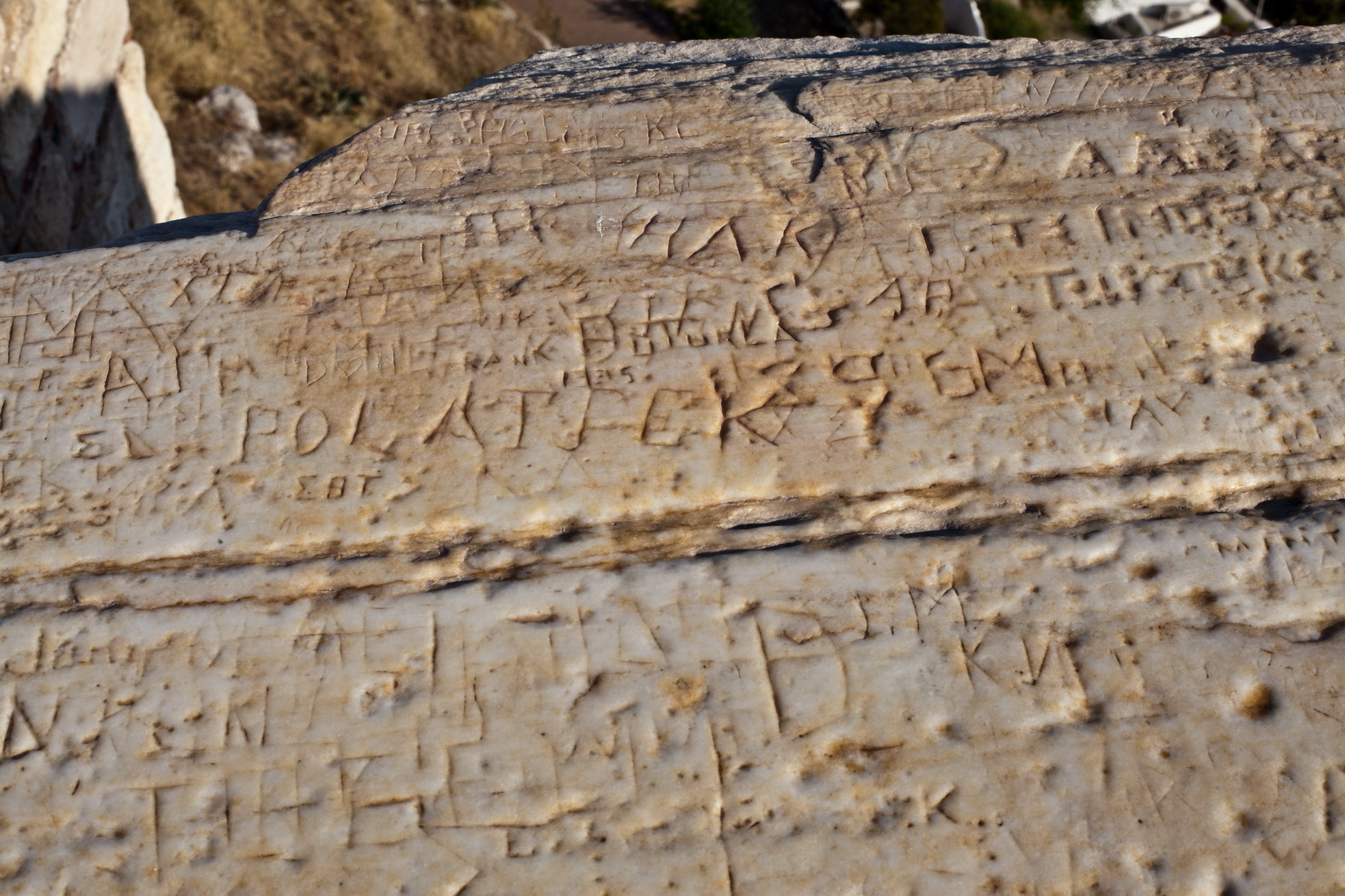 Image of ancient graffiti found at the acropolis