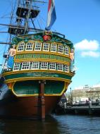 Asisbiz Amsterdam canal scenes Dutch Galleon Amsterdam Oct 2001 04