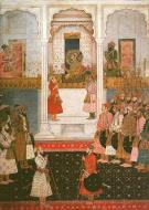 Asisbiz A painting of the Shah Jahan Court