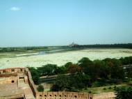 Asisbiz Uttar Pradesh Agra Agra Fort view of Taj Mahal India Apr 2004 01