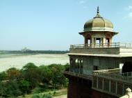 Asisbiz Uttar Pradesh Agra Agra Fort view of Taj Mahal India Apr 2004 02