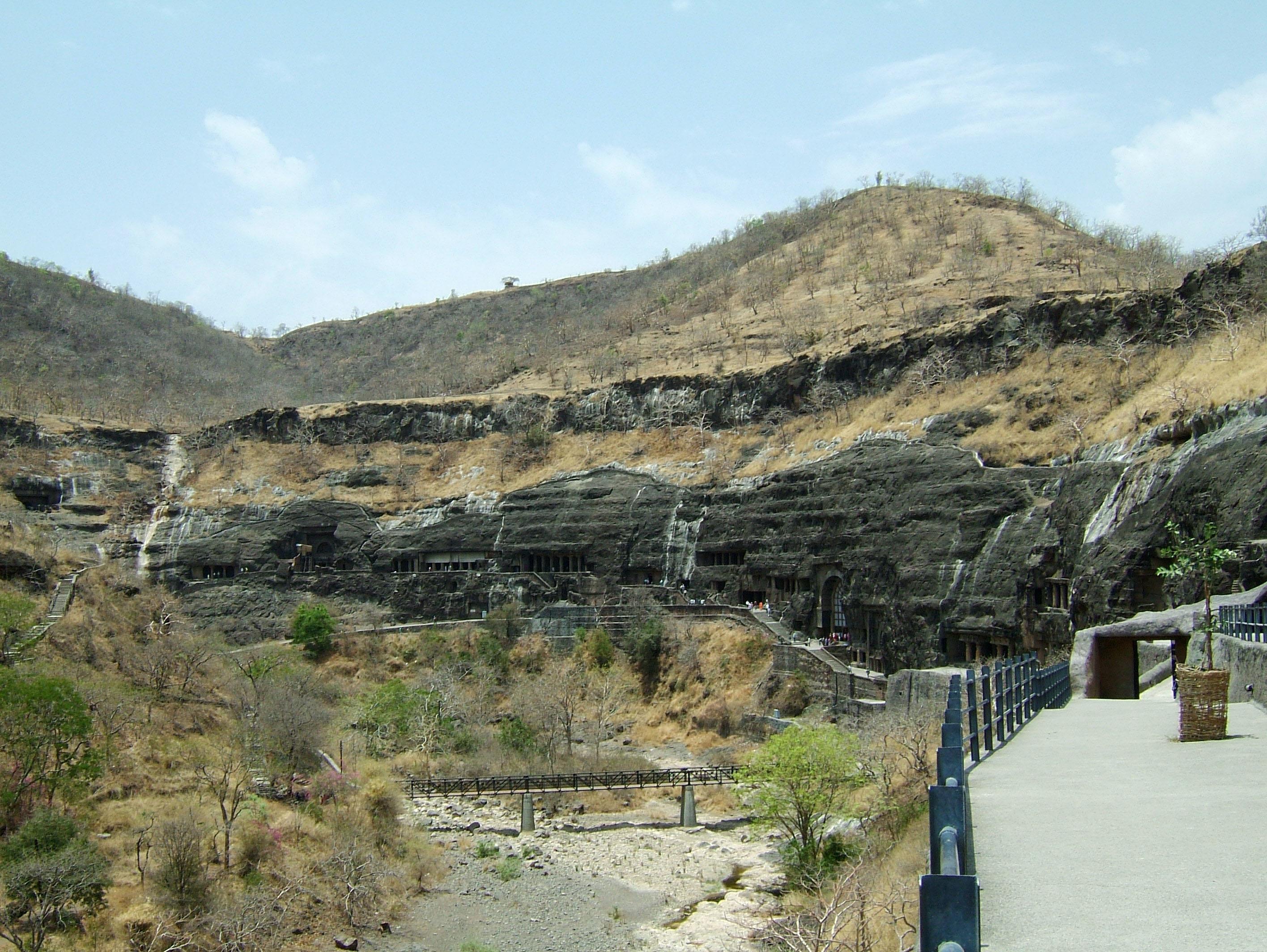 Marathwada Ajanta Caves entrance India Apr 2004 01