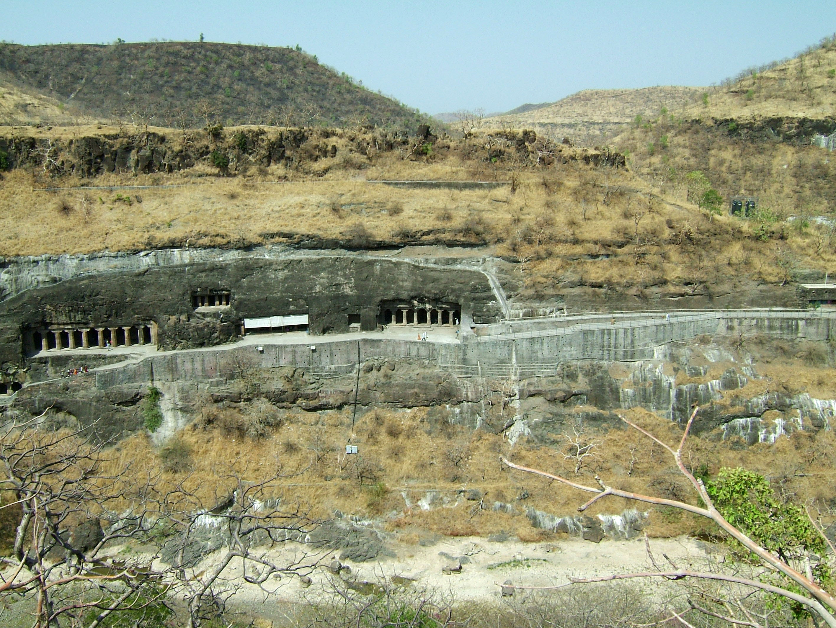 Marathwada Ajanta Caves entrance India Apr 2004 09
