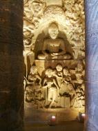 Asisbiz Marathwada Ajanta Caves Buddha carvings India Apr 2004 06