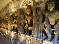 Asisbiz Marathwada Ajanta Caves Buddha carvings India Apr 2004 11