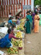 Asisbiz Madurai Alagar Kovil Temple fruit sellers India May 2004 02