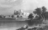 Asisbiz A painting of the Amber Fort Jaipur 1858
