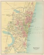 Asisbiz A map drawing of the Madras City 1909