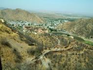 Asisbiz Rajasthan Jaipur Jaigarh Fort view of Amber Fort India Apr 2004 02
