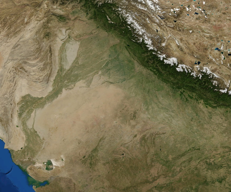 A NASA satellite image of the Thar
