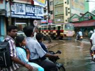 Asisbiz Madurai Sri Meenakshi Temple main road flooding India May 2005 01