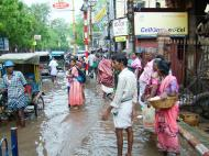 Asisbiz Madurai Sri Meenakshi Temple main road flooding India May 2005 10