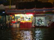 Asisbiz Madurai Sri Meenakshi Temple main road flooding India May 2005 14