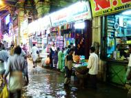 Asisbiz Madurai Sri Meenakshi Temple main road flooding India May 2005 15