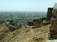Asisbiz Nahargarh Fort Aravalli Hills overlooking city of Jaipur India Apr 2004 08