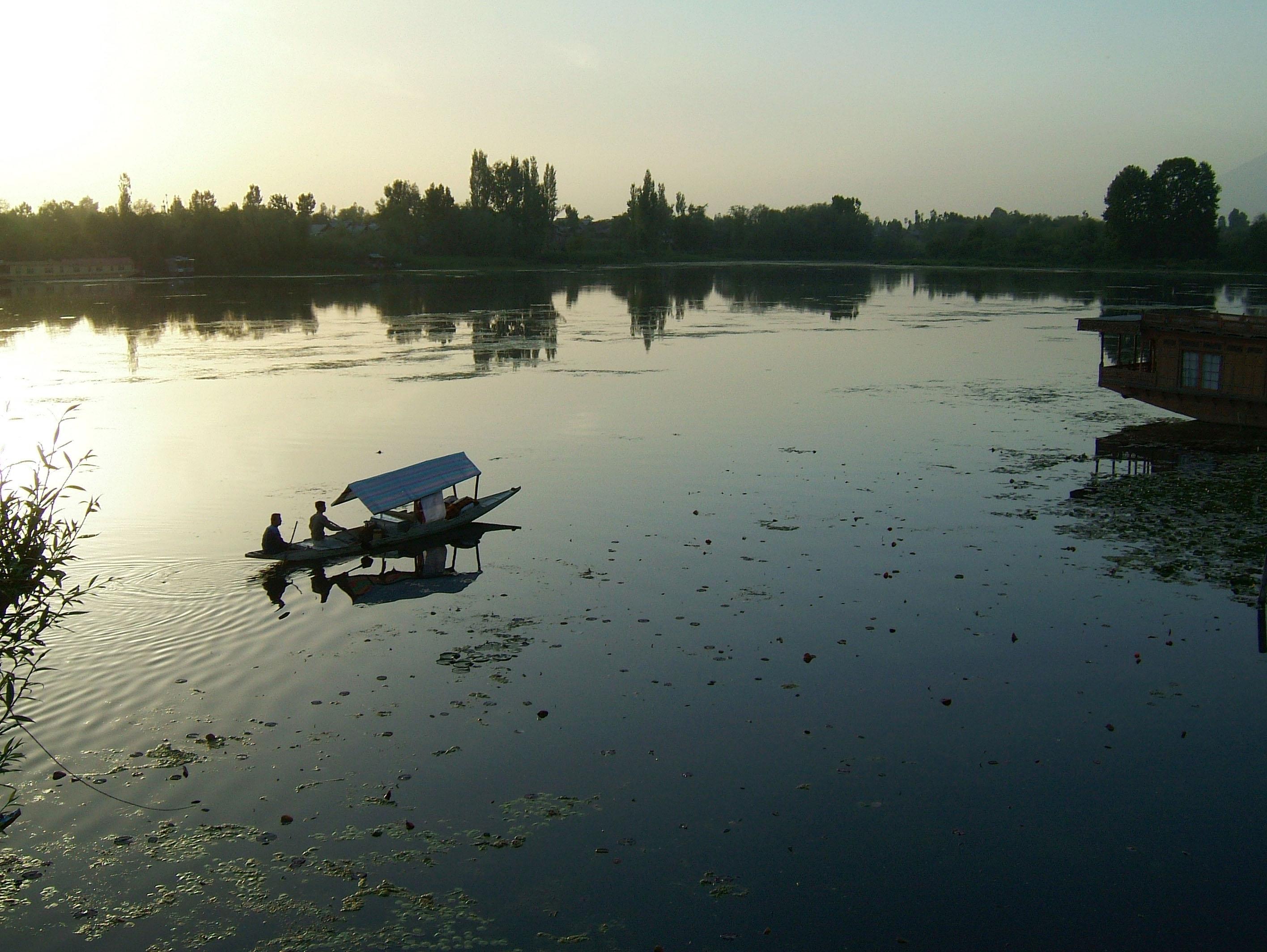 Kashmir Srinagar Shikaras Dal lake India Apr 2004 07