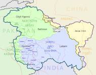 Asisbiz A map drawing of the Kashmir areas and districts