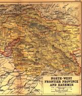 Asisbiz A map drawing of the NWFP Kashmir dated 1909