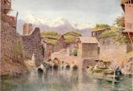 Asisbiz Art Painting Market boats on Mar Canal Srinigar