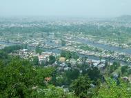 Asisbiz Kashmir panoramic view of Dal Lake and the city of Srinagar India Apr 2008 01