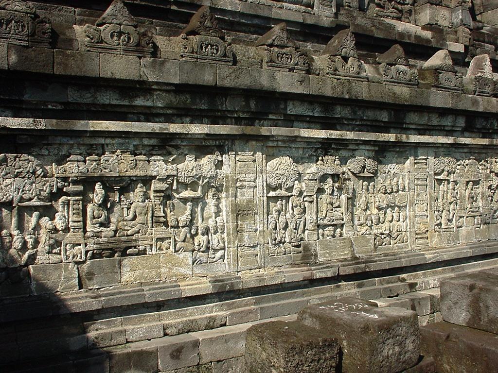 Java Yogyakarta Yogya Borobudur Pagoda Mosaics Aug 2000 07