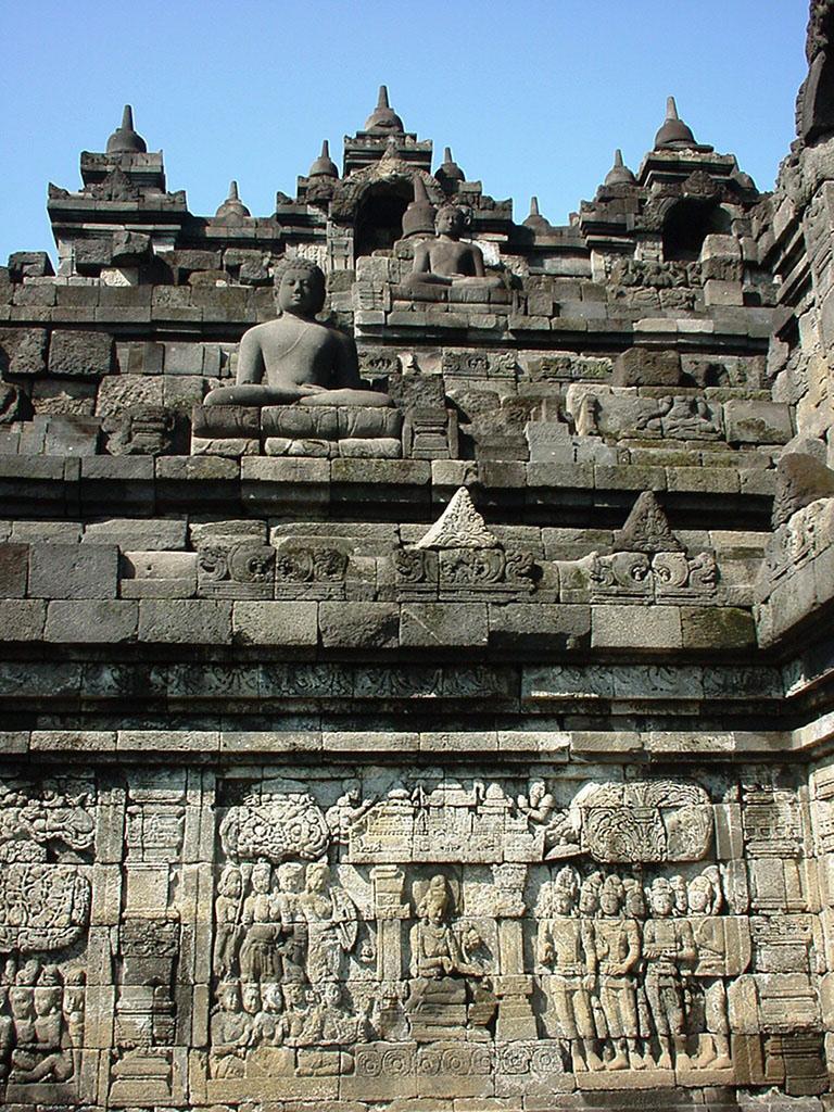 Java Yogyakarta Yogya Borobudur Pagoda Mosaics Aug 2000 09