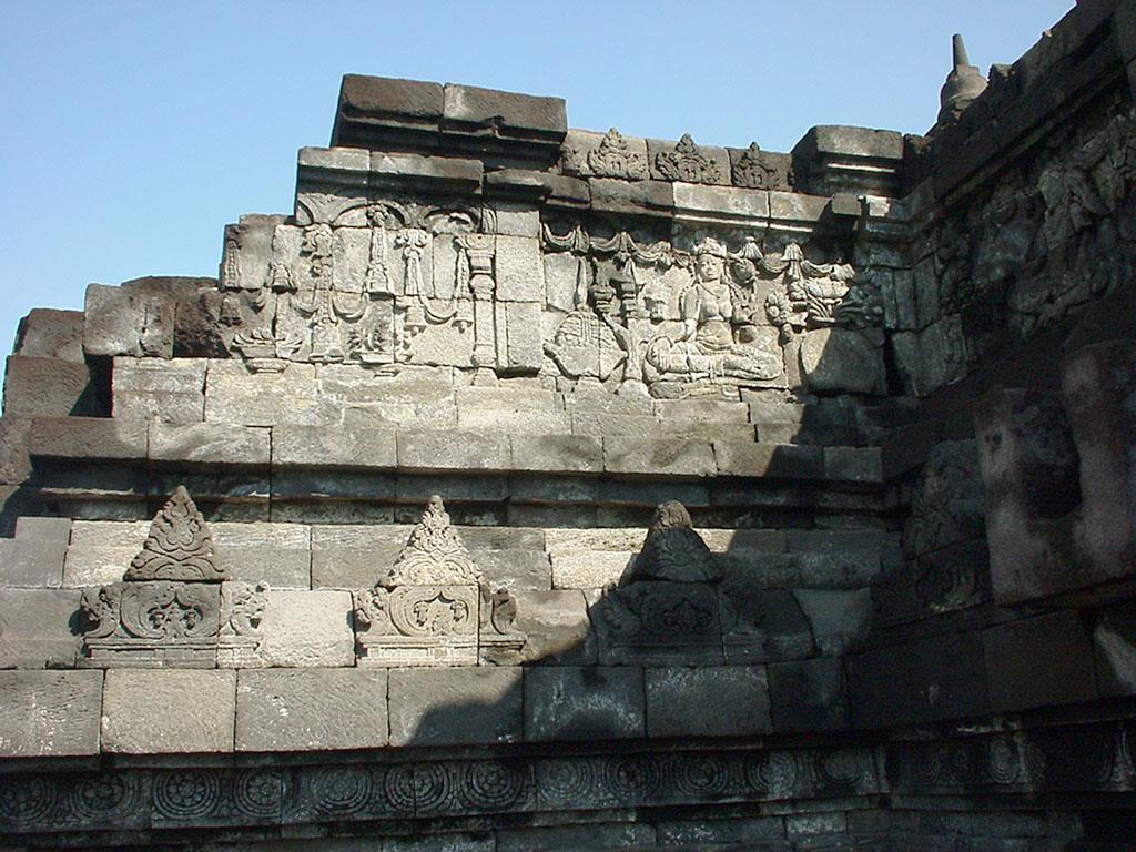 Java Yogyakarta Yogya Borobudur Pagoda Mosaics Aug 2000 11