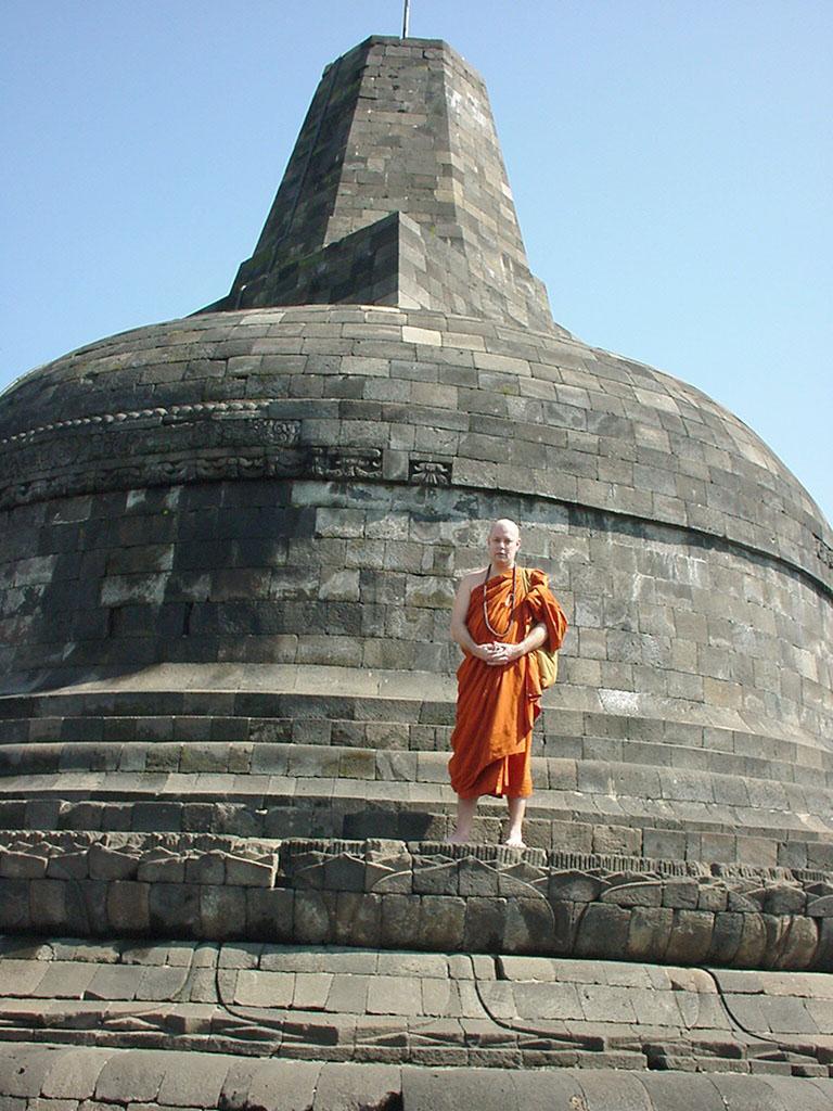 Java Yogyakarta Yogya Borobudur Pagoda stupas Aug 2000 01