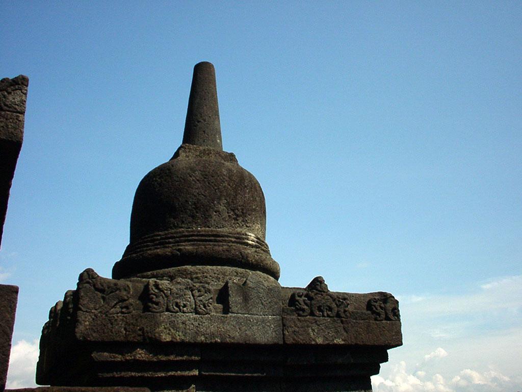 Java Yogyakarta Yogya Borobudur Pagoda stupas Aug 2000 12