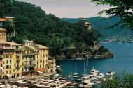 Asisbiz Travel photos featuring the marina around panoramic Portofino Tigullio Gulf Liguria Italy 01