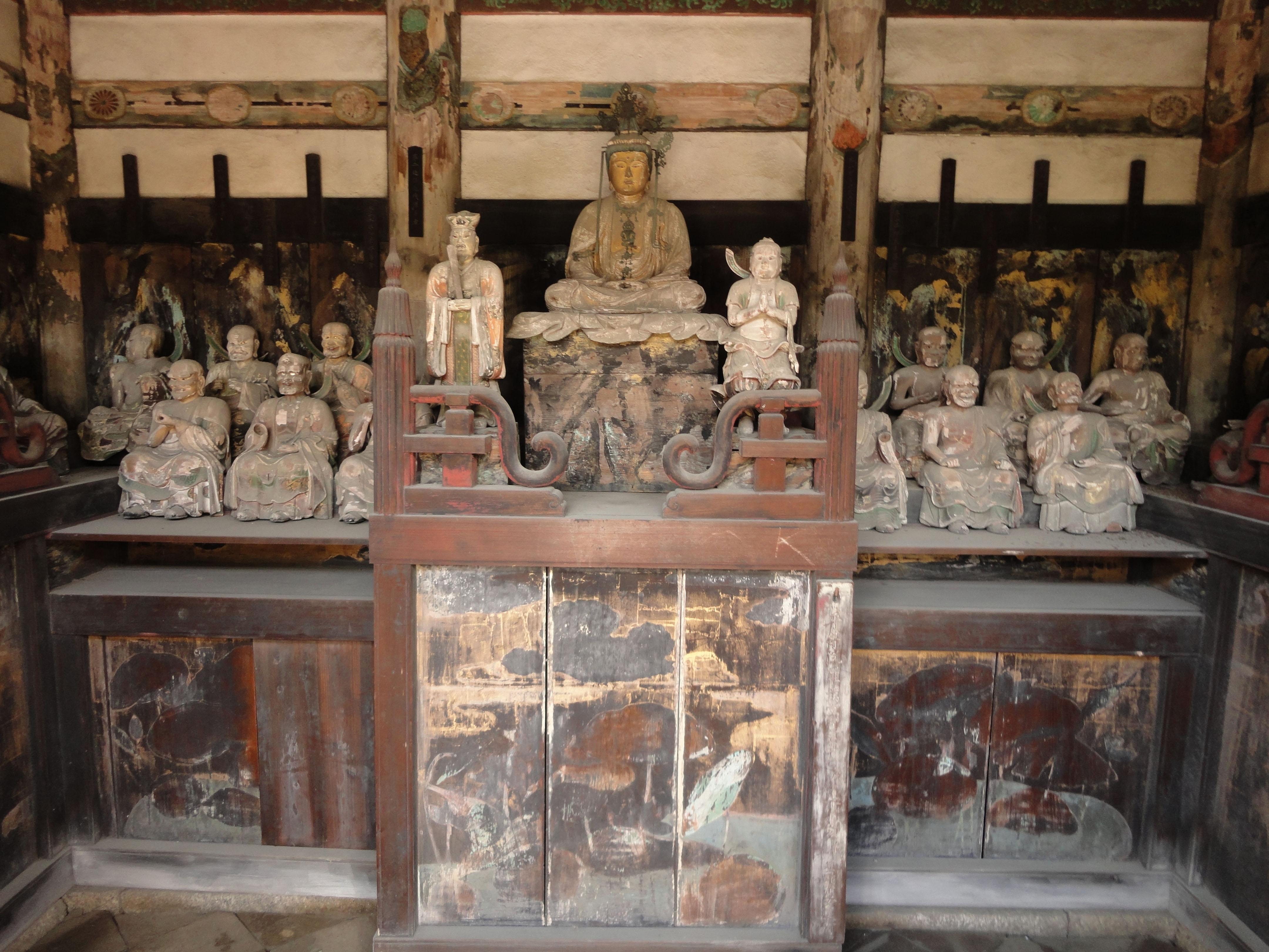 Byodo in Buddhist temple Kannondo Buddhist shrines Mar 2010 01