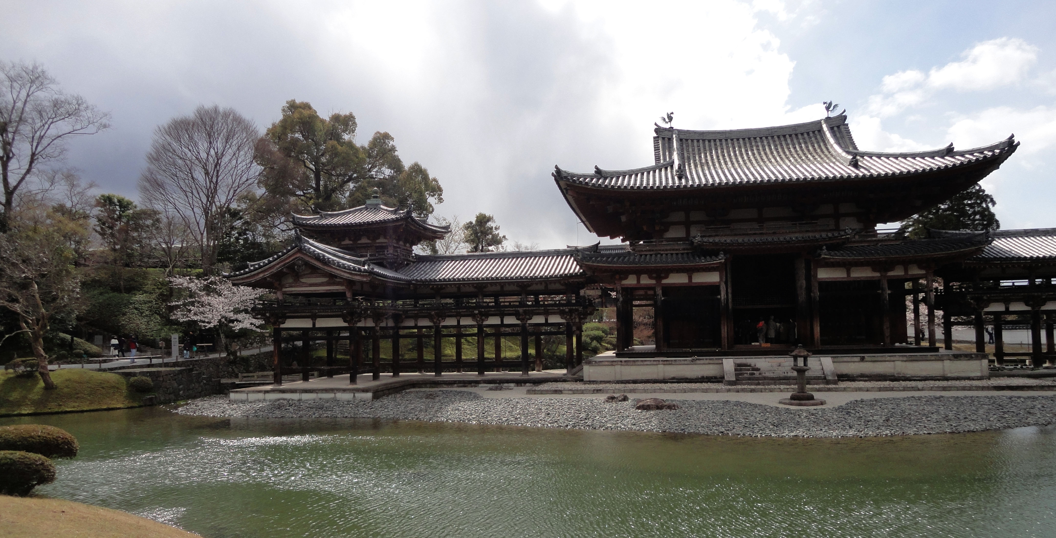 Byodo in temple Phoenix Hall Architecture Kyoto Japan 03